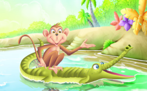 monkey and crocodile story in hindi